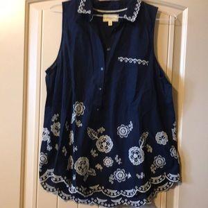 Moulinette Soeurs shirt sleeve blouse size 10